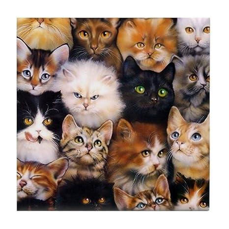 Amazon.com: CafePress diseño de gatos – Posavasos para ...