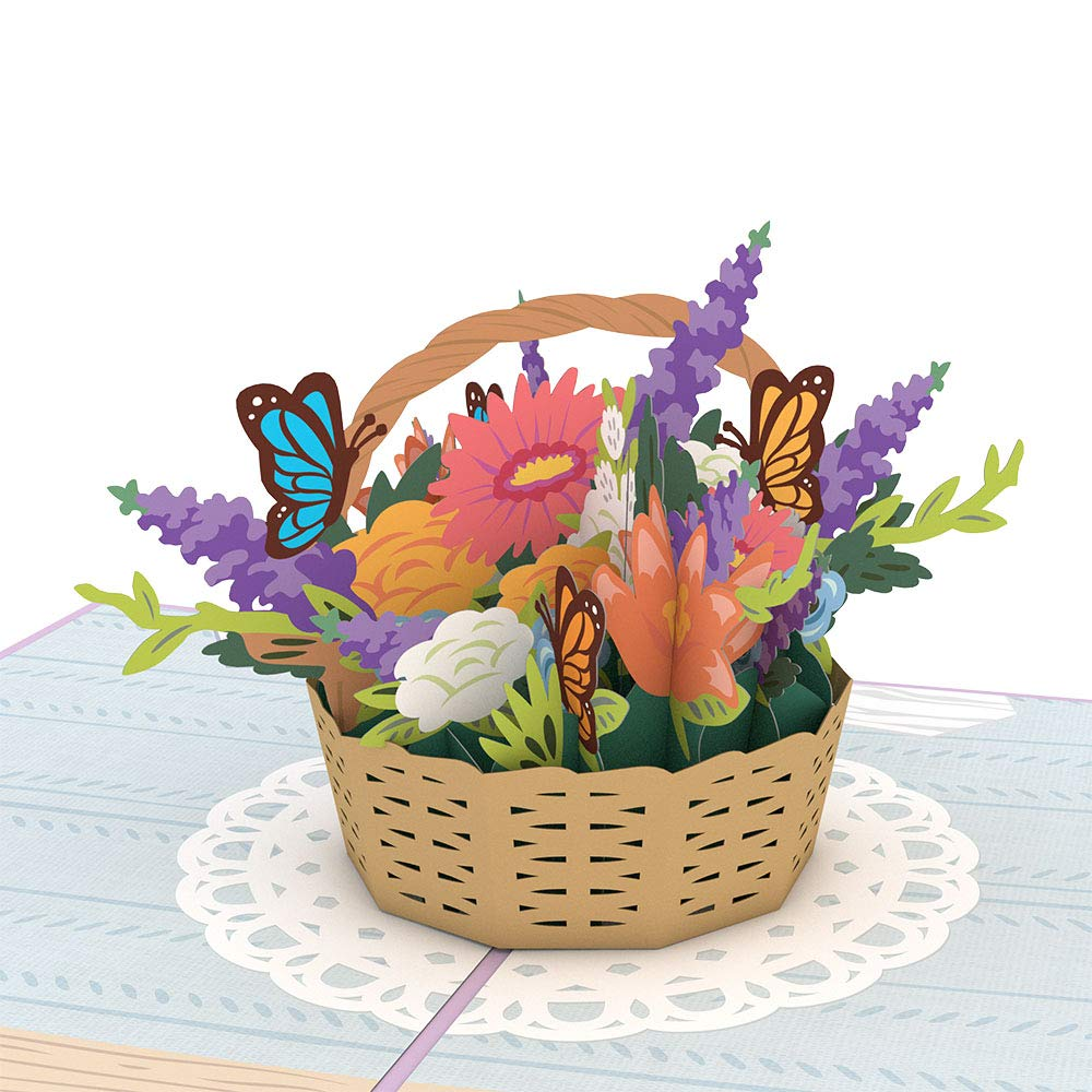 Lovepop Mother S Day Flowers Pop Up Card 3d Card Mother S Day Card Greeting Card For Mom 3d Flowers Card Card For Mom Card For Wife Flower Basket Buy Online In Guernsey