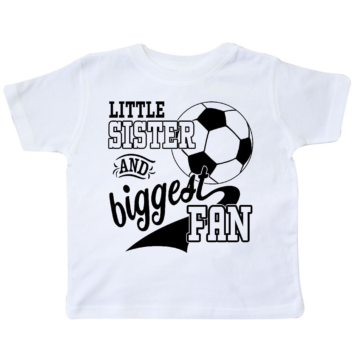 Soccer Player Toddler T-Shirt inktastic Little Sister and Biggest Fan