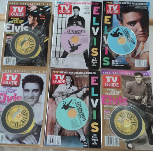 6 TV Guide Elvis with CD May 8-14 2005 July 4-1 2004