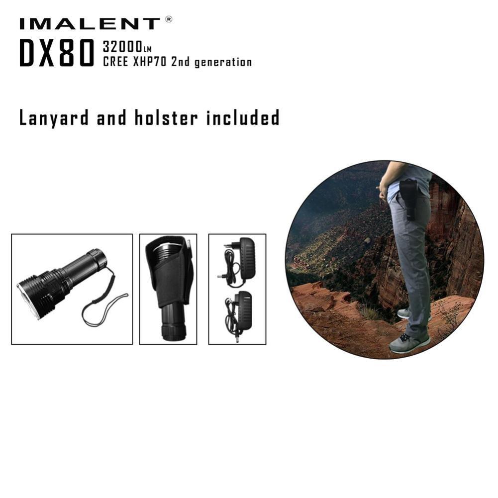 DX80 Cree XHP70 LED Flashlight 32000 Lumens 806 Meters USB Charging Interface Torch Flashlight by bestpriceam (Image #7)