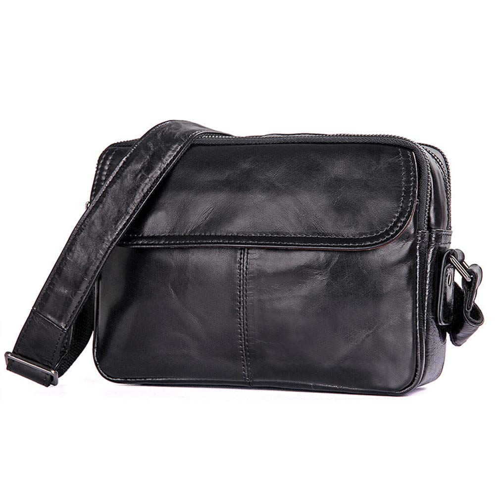 XUROM Briefcase Bag Multi-Function Storage Bag Men's and Women's Computer Bag Can Hold 7.9-inch Computer Lawyer Bag (Color : Black)