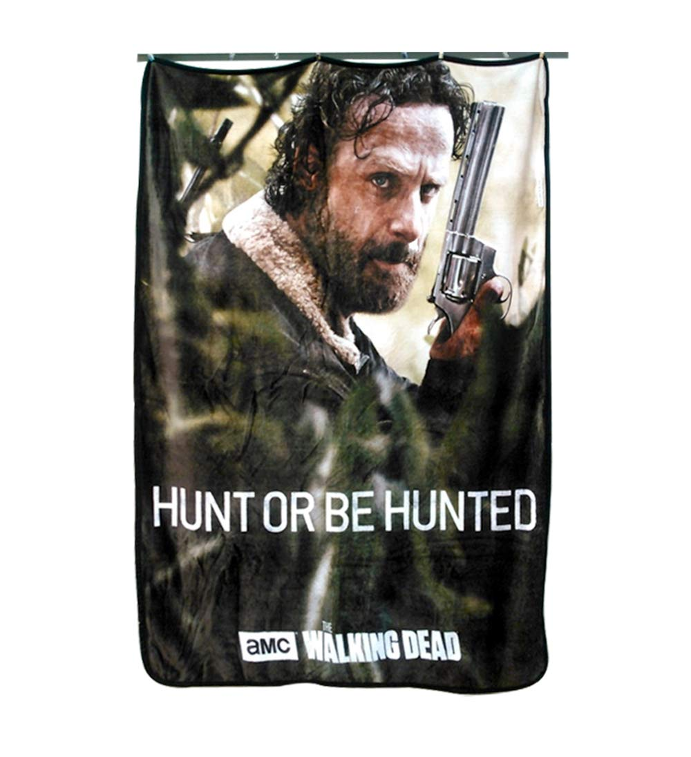 JUST FUNKY AMC The Walking Dead Rick Grimes Hunt OR BE Hunted Wall Hanging Tapestry/Fleece Throw Blankets, 45''x60''