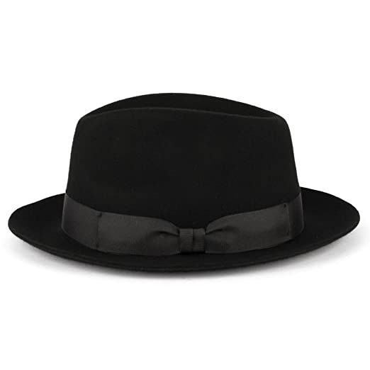 Amazon.com  ZAKIRA Medium Brim Fedora Hat for Men c8d283de15c