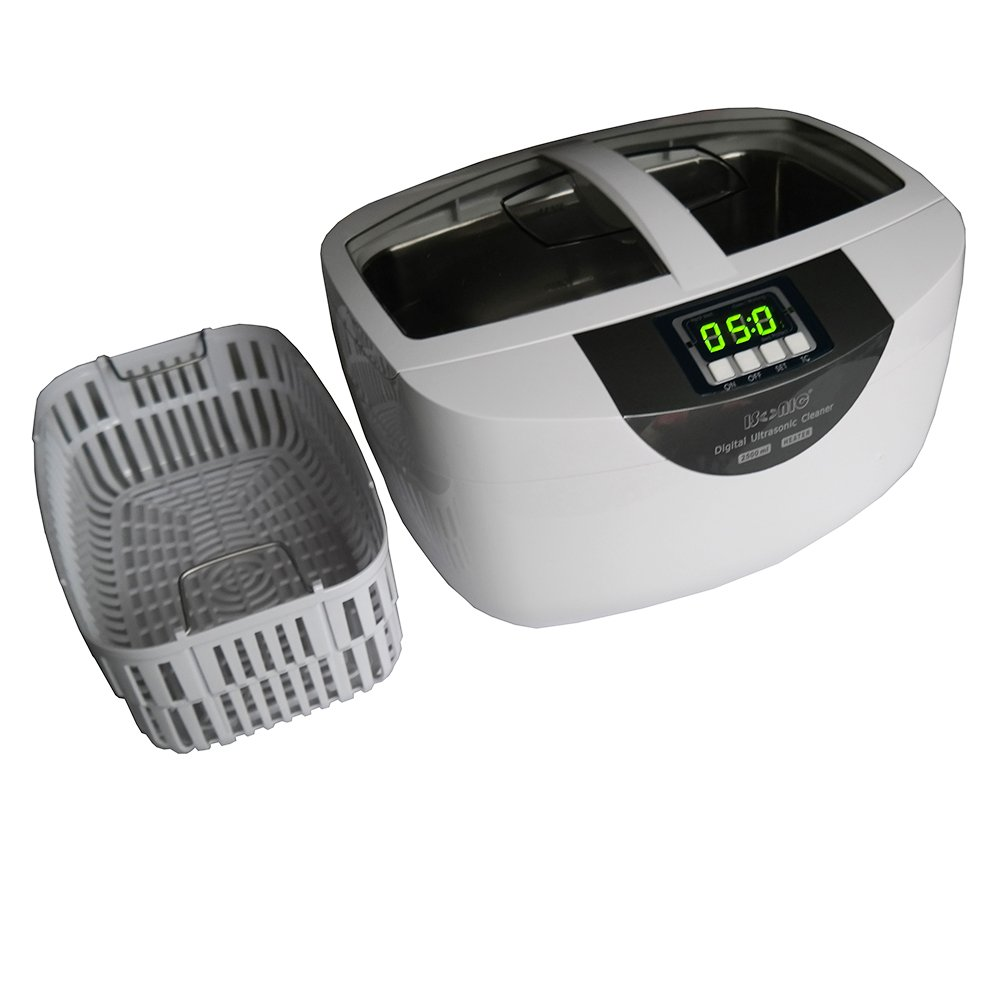 iSonic P4820-SPB25 Commercial Ultrasonic Cleaner 25-minute Timer, 2.6Qt/2.5L, WhiteColor, Plastic Basket, 110V