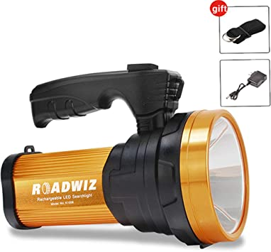 10000MAh LED Searchlight Spotlight Rechargeable Flashlight USB Torch Work