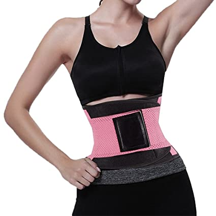 32c26b6869 Image Unavailable. Image not available for. Color  DBHAWK Women s Waist  Trainer Belt-Waist Trimmer-Slimming Body Shaper ...