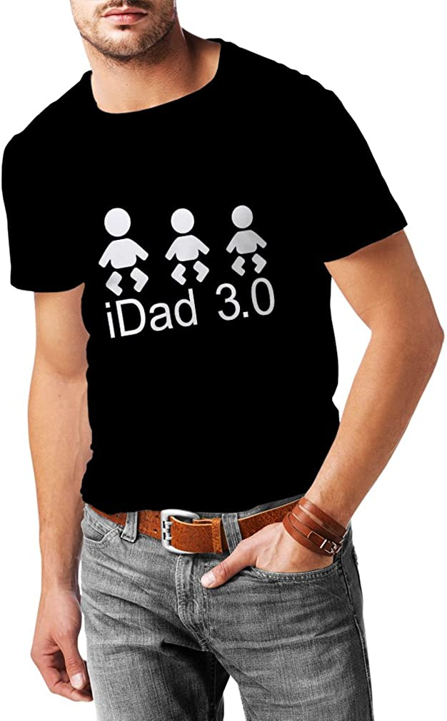 lepni.me Camisetas Hombre IDad 3 Mejores Regalos de papá él Regalos del día de Padre