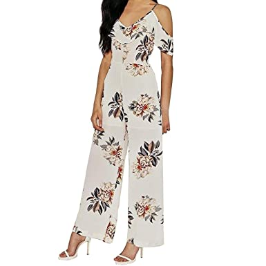 5e36e9f55158 Kingwo Women Off Shoulder Jumpsuit