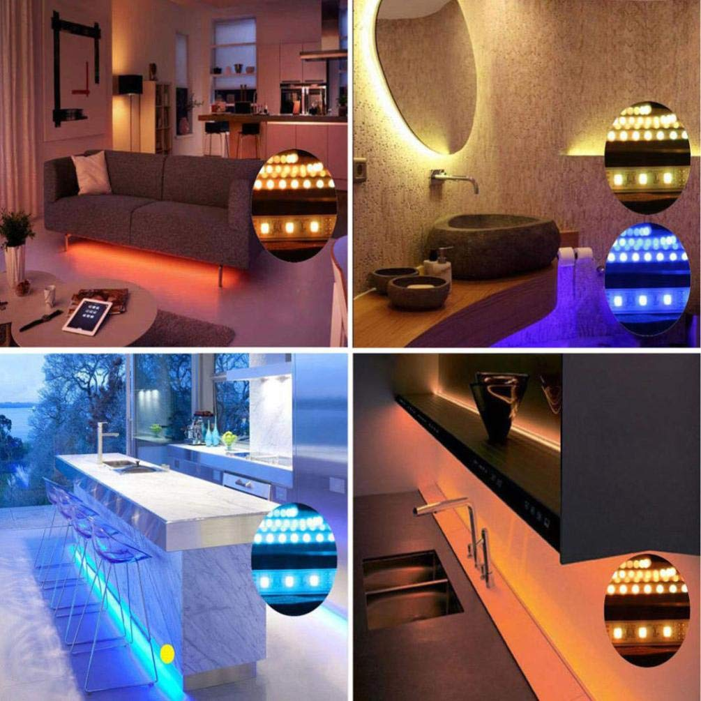 Yezijin Article Lamp, USB 5V 2835 12SMD 20CM RGB LED Strip Light Bar TV Back Lighting Kit
