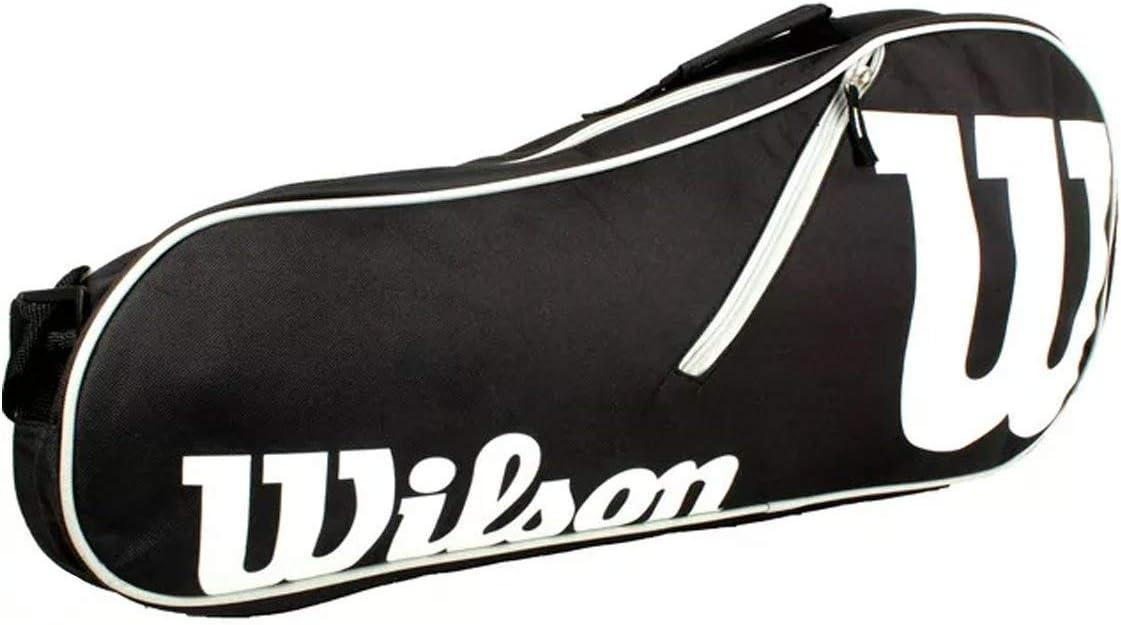 Negro//Blanco Wilson Tasche Advantage 3 Pack Bag Raquetero-Unisex NS