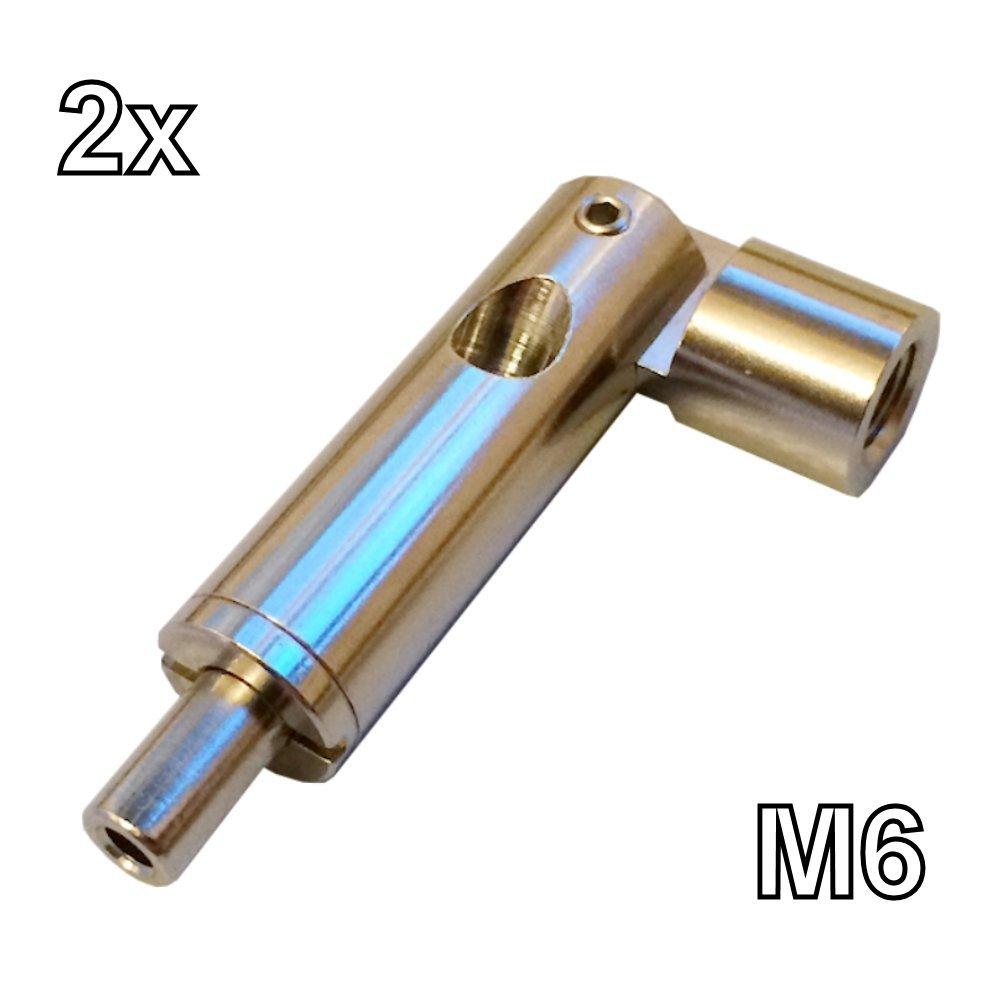 Gelenk Drahtseilhalter M6 - 2 Stück - für Seil d. 1,0mm bis 1,8mm ...