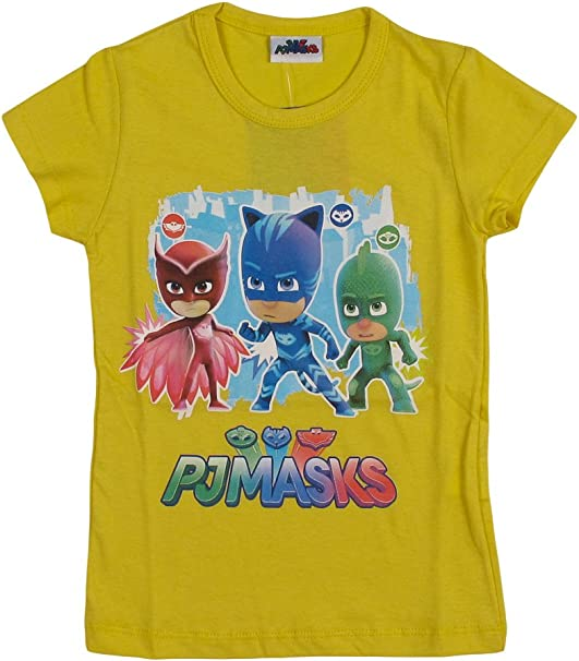 PJ Masks - Camiseta de manga corta para niño, 100% algodón Bianco ...