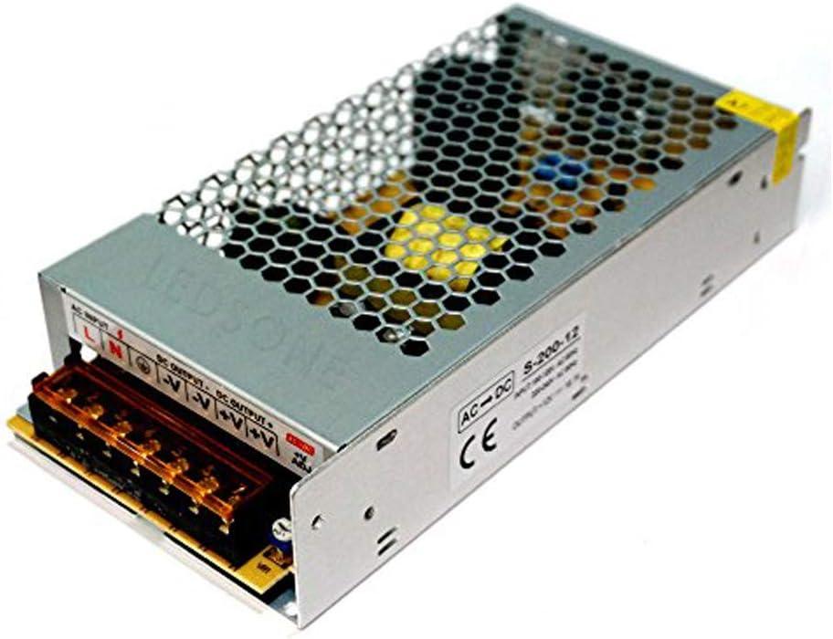 Unidad de fuente de alimentación LED, 200 W, PSU, 12 V, 16,6 Amperios, voltaje constante, 12 V, salida única, adaptador de alimentación para bombillas LED
