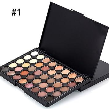 Amazon.com   40 Color Matte Eye Shadow Pallete Make Up Earth Palette  Eyeshadow Makeup Glitter Waterproof Lasting Makeup Easy To Wear 01   Beauty be59d15114