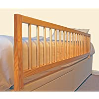 Safetots Extra Wide Wooden Bed Rail, Natural