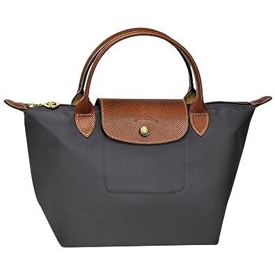 b84225f8d15 LONGCHAMP Le Pliage Small Tote Hand Bag (Gun Metal): Amazon.co.uk: Shoes &  Bags