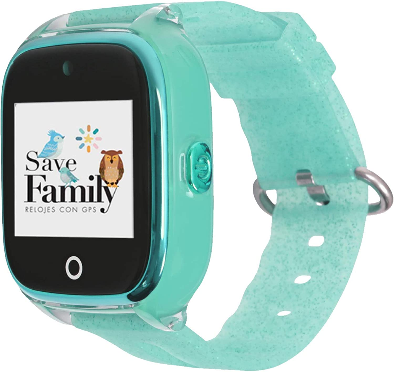 Reloj con GPS para niños Save Family Modelo Superior Acuático con Cámara. Smartwatch con botón SOS, Permite Llamadas y Mensajes. Resistente al Agua Ip67. App Propia SaveFamily