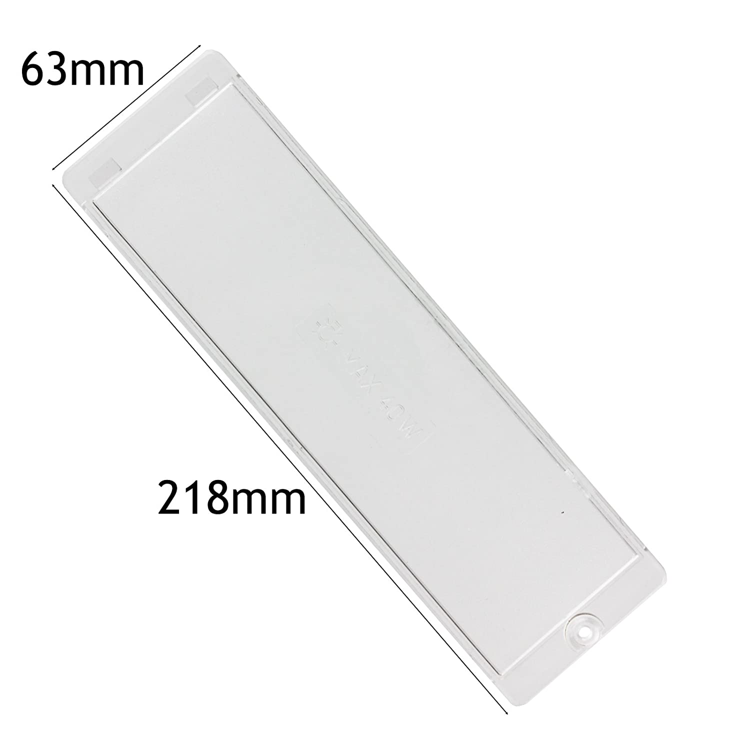 SPARES2GO Cooker Hood Light Diffuser/Lens Cover Plate (218mm x 63mm)