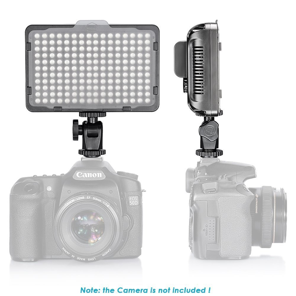 Neewer Dimmable 176 LED Video Light on Camera LED Panel with 2600mAh Li-ion Battery and Charger for Canon, Nikon, Samsung, Olympus and Other Digital SLR Cameras for Photo Studio Video Photography by Neewer (Image #2)