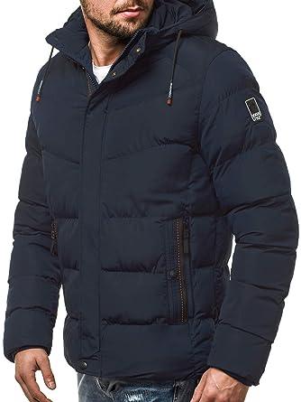 OZONEE Herren Winterjacke Parka Jacke Wärmejacke Wintermantel Coat Kapuze Wärmemantel Modern Täglichen N5539