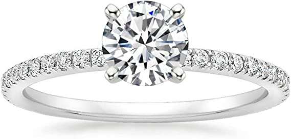 Lemon Grass 1 Ct Halo Solitaire Cubic Zirconia Promise Engagement Ring 925 Sterling Silver Ring Sizes 3.5-9.5