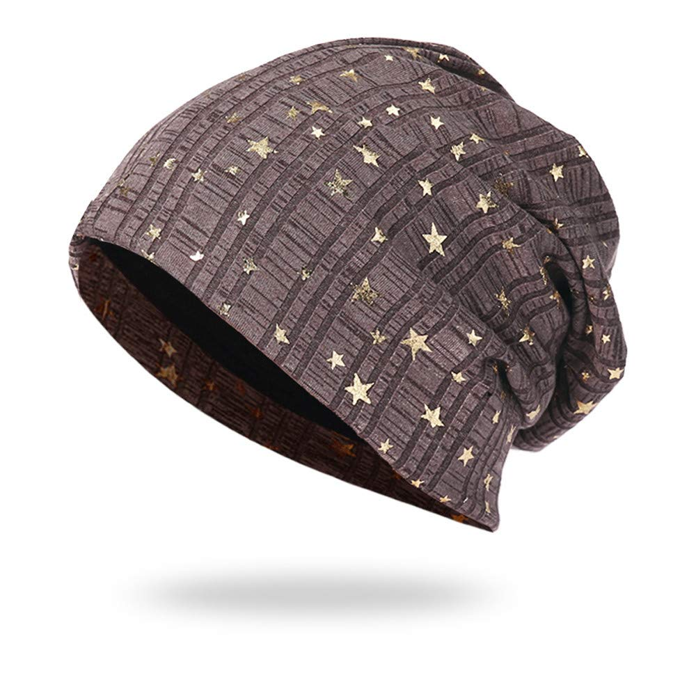 iHENGH Beanie Unisex Star Warm Crochet Winter Strick Ski Beanie Skull Slouchy Caps Hat Street Classics 44-60cm
