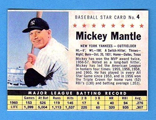 Mickey Mantle 1961 Post Cereal Baseball Reprint Card (Yankees) ()
