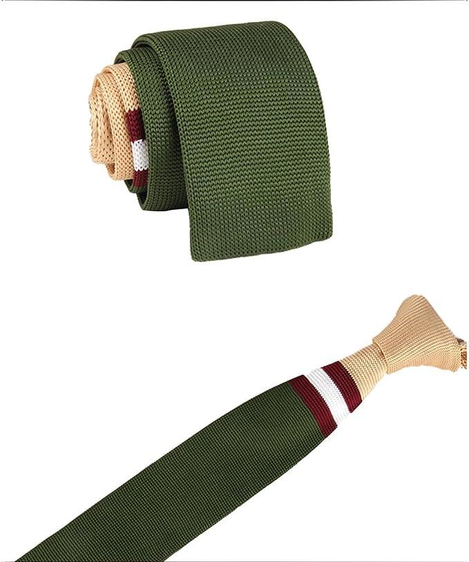 JUNGEN Corbata de Punto para Hombres Corbata Informal del Color de ...