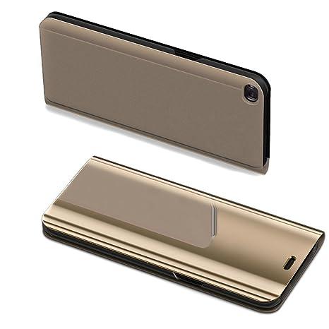 Uposao Espejo Enchapado Flip Cover Funda Huawei P8 Lite 2017 ...