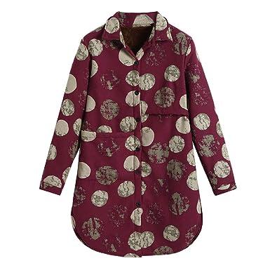 Amazon.com: AKIMPE - Chaqueta de algodón para mujer, de lino ...