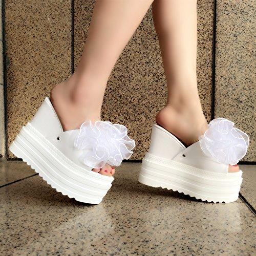 tacones XiaoGao de altos zapatillas centimetros con y Cool Blanco 13 tacones qq18Zn6
