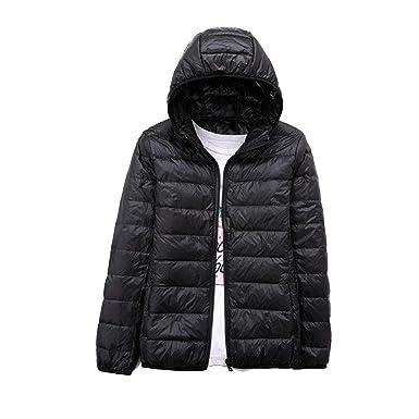 41ee904f397 YUNY Womens Short Zipper Lightweight Plus Size Down Jacket Outwear Puffer  Coats Black S