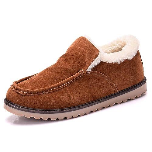 Yi Buy Hombres Casual Mocasines Zapatos para Conducir Cómodo Invierno Piel Forradas Calientes Zapatillas(4 Colores 38-43 EU): Amazon.es: Zapatos y ...