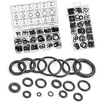 MEESOGA O-ring assortiment - 225 stuks O-ring set van NBR-rubber, 3-22 mm rubberen afdichtringen set met 18…