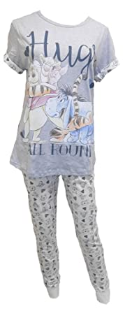 Disney Winnie the Pooh Hugs Ladies Pyjamas c7add9caefcc