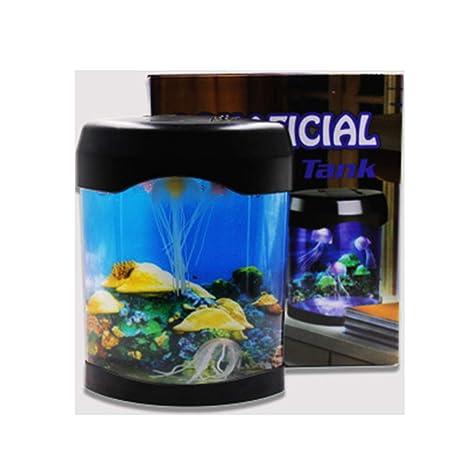 Tanque De Peces Pequeños Lámpara De Medusa Cambiante De Color Acrílico Multicolor Mini Medusas De Peces