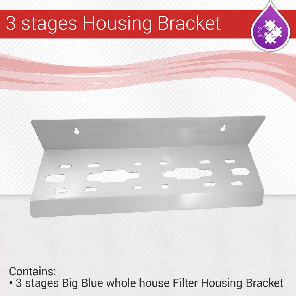 Max Water 3 stages Big Blue whole house Filter Housing Bracket