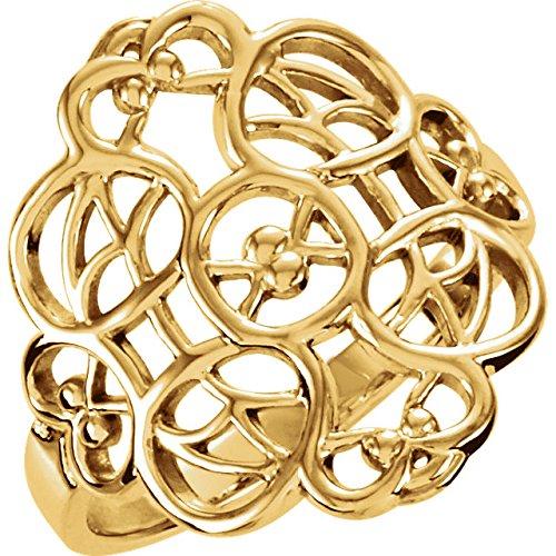 14kt Yellow Filigree Ring 14kt Filigree Ring