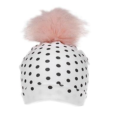 284728d1db0e Bonnet Bébé, Mignon Filles Garçon Dessin Animé Mode Plein Point Tout-Petits  Coton Tête