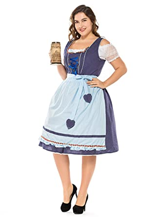 1f5d0014542 Amazon.com  Taopleker Women German Oktoberfest Dirndl Dress