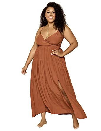 Astra Signature Women\'s High Split Spaghetti Strap Dress Plus Size ...