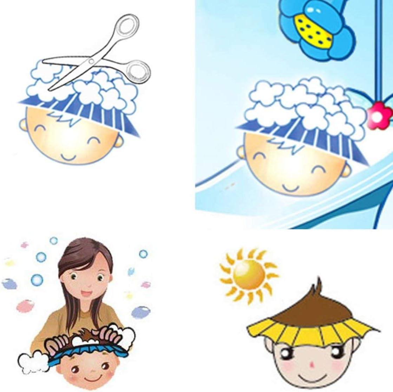 Chapeau de b/éb/é r/églable enfant en bas /âge enfants shampooing bain bain bonnet de douche lavage bouclier de cheveux direct visi/ère casquettes pour enfants b/éb/é soins