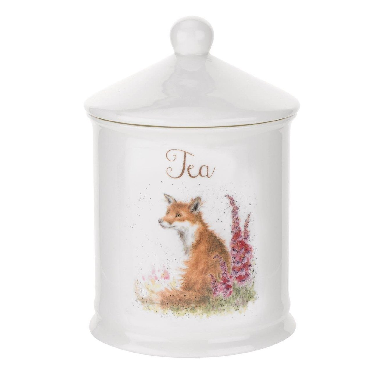 Royal Worcester Wrendale Designs Fox Tea Canister 14.5cm WNT3996-XW