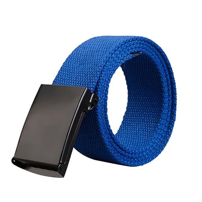 Tefamore Cinturones Hombre Lienzo Hebilla de Plástico ...
