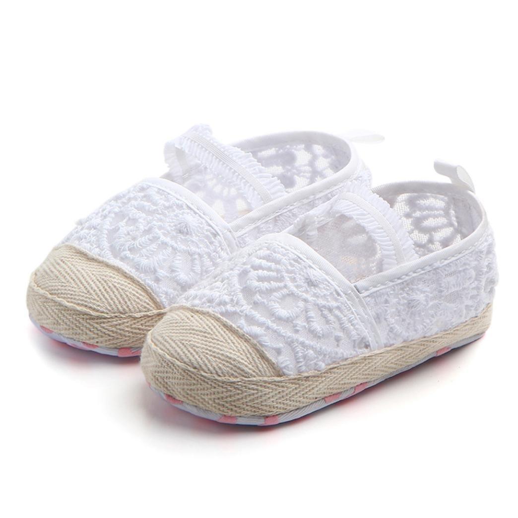 Longra Bébé Fille garçon Unisex Dentelle Ajourée Soles douces Couleur unie  Chaussures premiers pas  Amazon.fr  Chaussures et Sacs 2e187e88d4b8