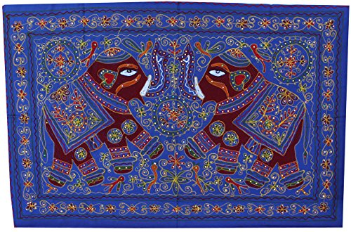Indian Wall Hanging Tapestry Ethnic Handmade India Decor (52 x 33 inches)