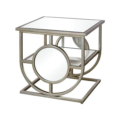 Admirable Amazon Com Contemporary Home Living 22 Silver Polaris Side Machost Co Dining Chair Design Ideas Machostcouk