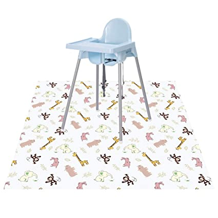 Baby Feeding Floor Mat Less Mess Craft Splash High Chair Protector Pad BUTTERFLY