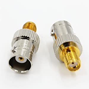 BNC Female Jack to SMA Female Jack RF Adapter Connector Quick USA Shipping